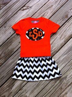 Girls Halloween twirly skirt & shirt set. by EverythingSorella, $48.50