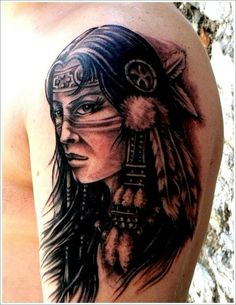 Indian Native American Tattoo - http://99tattooideas.com/indian-native-american-tattoo/ #tattoo #tattoos #ink