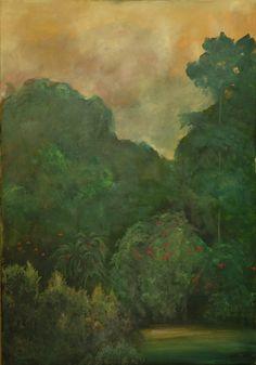 Brassai Gabi: Birds oil on canvas