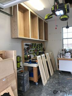 DIY Cabinets For A Garage, Workshop or Craft Room! - Shanty 2 Chic