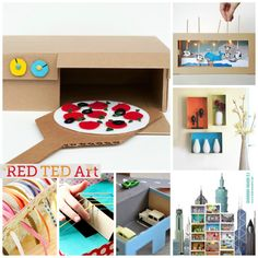Red Ted Art's collection of 30 Wonderful Shoe Box Craft Ideas! We love crafting with recycled materials. It is a great way to get kids thinking about the environment too. Here are some of favourite shoe box crafts for kids!
