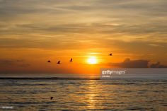 The atmosphere of sunset and sunrise by the beach of Bali Indonesia