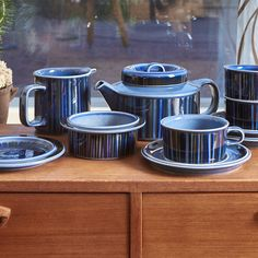 Finally back ! 💎 Arabia Kosmos Blue series bowls , teacups, plates, and more !  This blue version is super rare and popular, so be very quick! 🌸The series is inspired by the Cosmos flower and is made of strong stoneware.   → We add stock for rare items all the time, so click on  link. Use the Add to wishlist -function, to be first to know.  🌍Free shipping on orders over 90€ .  .  .  #arabiakosmos #arabiakosmosblue #kosmosblue #ullaprocope #classicblue #Arabiadishes… Marimekko Fabric, Glass Company, Moomin, Teacups, Cosmos, Stoneware, Bowls, Strong, Plates