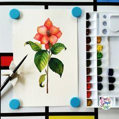 Finished… #calligrafikas #watercolor #botanicalwatercolor Paper:Daley Rowney 300gsm Paint: Shin Han Peofessional watercolors & Pass Brush: Silver Brush Black Velvet round no 6