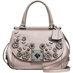 Coach Drifter Leather Top Handle Shoulder Bag, Grey Birch (45.135 RUB) ❤ liked on Polyvore featuring bags, handbags, shoulder bags, purse pouch, coach tote bags, gray leather tote, leather tote and leather shoulder bag