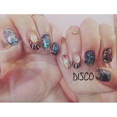 DISCO NagisaさんはInstagramを利用しています:「New work ◆ Thx @spellmlleqs ◆ #disco #disconail @disco_tokyo」
