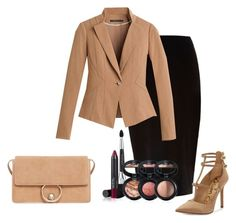 """""""Untitled #31"""" by renadagreer on Polyvore featuring River Island, White House Black Market, Sam Edelman, MANGO and Laura Geller"""