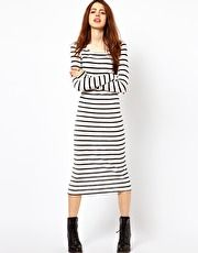 Just Female Striped Jersey Maxi Dress