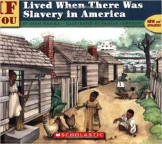 "If You Lived When There Was Slavery In America "".With compassion and respect for the enslaved, this book answers questions children might have about this dismal era in American history. Autobiographies For Kids, Slavery In The Usa, King Author, History Projects, Black Books, Kids Writing, Inspirational Books, African American History, American Civil War"