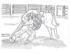 free printable rodeo coloring pages bull riding barrel racing calf roping and more