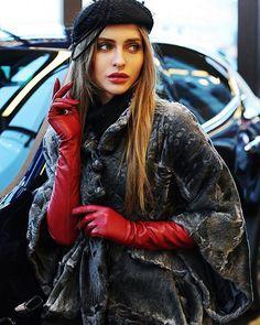 Red Gloves, Long Gloves, Leather Gloves, Leather Jacket, Red Leather, Ladies Gloves, Elegant Gloves, Gloves Fashion, Portraits