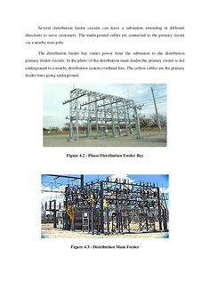 Several distribution feeder circuits can leave a substation extending in different  directions to serve customers. The und...