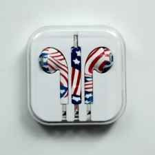 Earphone Headphone Headset For Tablet PC MP3 Mobile Phone iPhone National Flag