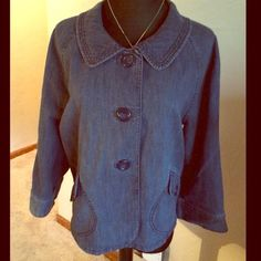 Denim jacket Cute denim jacket. Worn a couple of times. Bought at Macy's. Style & Co Jackets & Coats Jean Jackets