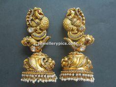 Gold Nakshi jhumka designs by Tibarumal jewellers - Latest Jewellery Designs