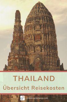 Beim Reisen dürfen die Ausgaben nicht vergessen werden 💶. Was dich deine Reise nach Thailand kosten kann, findest du in meiner detaillierten #kostenaufstellung 📋: Übernachtungen ・ Verkehrsmittel ・ Essen ・ Ausflüge ・ Eintritte ・ Sonstiges.  // #madoreisen #madounterwegs👣 #reisetagebuch #asien #thailand #reisetipp #travel #finanzen #urlaubskasse // Werbung, da Firmen-/Marken-/Ort-/Personen-Nennung oder -Verlinkung ohne Auftrag, aber als persönliche Empfehlung // Thailand, Roadtrip, Barcelona Cathedral, Taj Mahal, Travel, Travel Scrapbook, Left Out, Finance, Travel Advice