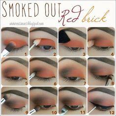 Red Smokey Eye - #smokeyeye #eyemakeup #eyeshadow #eyetutorial #smokedout #redbrick #missbaesblogspot - bellashoot.com