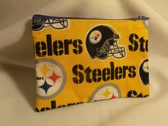 Steelers Zip Pouch by GusandBeckys on Etsy