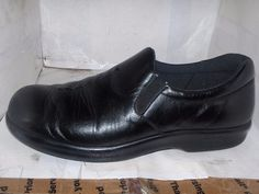 SAS WOMENS BLACK LEATHER CASUAL SHOE VIVA MODEL LOAFERS SIZE 7 M #SAS #LoafersMoccasins #Casual