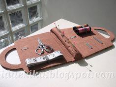 Notebolsa versão bolsinha de costura - Cartonagem