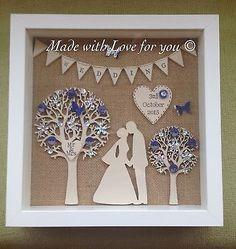 Second Anniversary Gift, Wedding Anniversary Gifts, Anniversary Ideas, Gift Wedding, Homemade Wedding Gifts, Homemade Anniversary Gifts, Personalized Wedding Favors, Handmade Wedding, Cricut Wedding