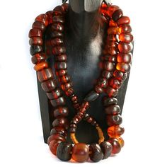 Very Old Amber Bead Collection of 94 Beads - Baltic in Origin. Mostly translucent. Age:Unknown. Est 500 - 2000 Years