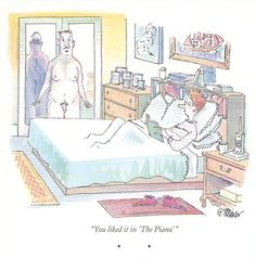 This Peter Steiner cartoon, from 1994, is the first recorded illustration of full-frontal male nudity in the magazine.
