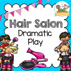 46 pages of printable props to help you easily transform your dramatic play center into a hair salon in preschool, pre-k, or kindergarten. Add opportunities to enhance literacy, math, oral language and math skills to your pretend play center!