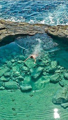Beautiful Giola Lagoon, Thassos, Greece