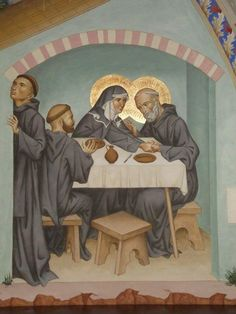 Fresco of the holy siblings