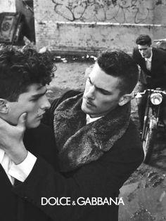 Male models for dolce and gabana black and white men guys