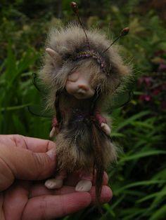 Tiny ooak polymer fairy fairie. $88.00, via Etsy.