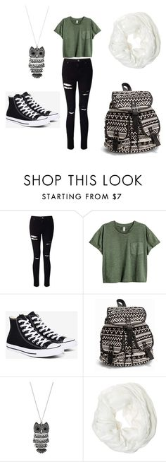 """""""Causal School Outfit"""" by dreamhigh426 on Polyvore featuring Miss Selfridge, Converse, NLY Accessories, Mudd and Betsey Johnson"""
