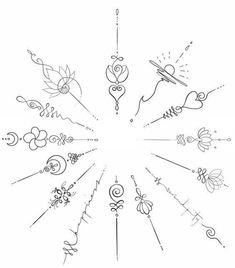 Small tattoos/Unalome tattoos - - tattoo designs ideas männer männer ideen old school quotes sketches Mini Tattoos, Cute Small Tattoos, Small Tattoo Designs, Tattoos For Women Small, Awesome Tattoos, Black Tattoos, Small Finger Tattoos, Yoga Tattoos, Wrist Tattoos