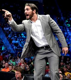 """Seth Rollins<<< Should not just write """"Seth Rollins"""" when he's looking real nice in a suit!! And yes, I love to see him wearing one :)"""