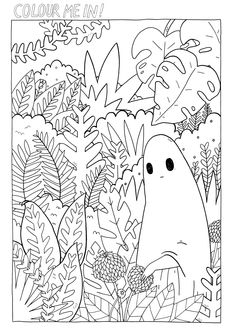 Para colorir! Online Coloring Pages, Cute Coloring Pages, Flower Coloring Pages, Mandala Coloring Pages, Coloring Sheets, Coloring Books, Mushroom Drawing, Free Adult Coloring, Sketch Inspiration