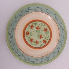 Culinary Arts Studio 5 Matching Dinner Plates Julie Ingleman Design Green EUC #CulinaryArtsStudio