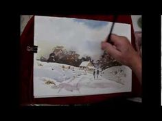 ▶ How to paint a simple loose snow scene - YouTube