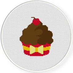 FREE for June 17th 2015 only - Cupcake Cross Stitch Pattern