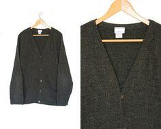 by LiveToLiveVintage Gray Sweater, Sweater Cardigan, Blazer, Dark, Grey, Sleeves, Sweaters, Jackets, How To Wear