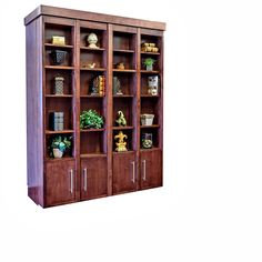 Queen Bi-fold Bookcase Wallbed / Alder / Cimarron Valley