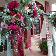Gorgeous church entrance wedding arch for a boho styled wedding! We love the colors! What do you think? Shabby Chic Wedding Decor, Thessaloniki, Our Love, Boho Fashion, Entrance, Arch, Wedding Decorations, Bouquet, Weddings