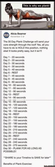 shall i even attempt to try this 30 day PLANK challenge? yeah i put plank in all caps cause it's that brutal to me. Fitness Workouts, Fitness Diet, At Home Workouts, Health Fitness, Yoga Fitness, Fitness Weightloss, Fitness Plan, Fitness Goals, Fat Workout