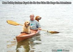 Kayaking Adventures - funnydogsite.com #dogs #funny #cute