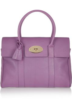 Mulberry The Bayswater Glossed Leather Bag in Radiant Orchid Pantone has named Radiant Orchid as color of the year. This bag is the perfect match! Leather Purses, Leather Handbags, Leather Bag, Mulberry Purse, Sophia Webster Shoes, Purple Leather, Purses And Bags, Shoulder Bag, Tote Bag
