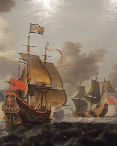 Detail of Battle between the Dutch Navy and Pirates by Bonaventura Peeters 1614-1652 Flemish (1) Oil on Canvas | Flickr - Photo Sharing!