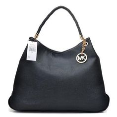 #MichaelKors #CheapMichaelKors Charming Michael Kors Skorpios Textured Large Black Totes Make You To BeCrazy