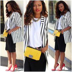 Chanel Bag, Zara Blazer, Lanvin Necklace, Christian Louboutin Shoes