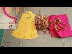 Hi Friends, HI FRIENDS Today, we learn to make an very beautiful and stylish angrakha style gown, Latest Angrakha Style Kurti /Frock / Shirt cutting and stit. Churidar Designs, Kurti Neck Designs, Blouse Designs, Dress Patterns, Sewing Patterns, Angrakha Style, Stylish Gown, Shirt Cutting, Creative Embroidery