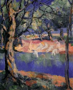 KAZIMIR MALEVICH (Russian painter Painter and art theoretician. He was a pioneer of geometric abstract art and the originator of the avant-garde, Suprematist movement / River in Forest, 1908 Matisse, Vincent Van Gogh, Kazimir Malevich, Art Nouveau, Impressionist Paintings, Oil Painting Reproductions, Russian Art, Artist Art, Great Artists